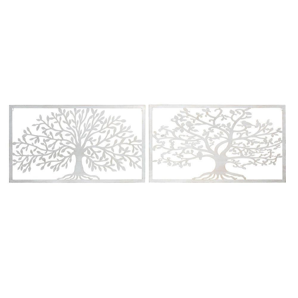 Wall Decoration DKD Home Decor Metal Tree (2 pcs) (84.5 x 1 x 49 cm)