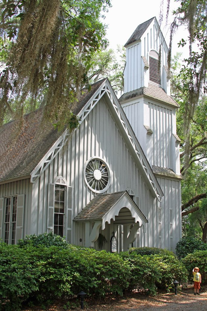 """""""Great Victorian era Gothic Revival Church Trinity Episcopal"""" ~ This is one of the few if not only survivors of the pre civil war era in Ridgeland, South Carolina."""