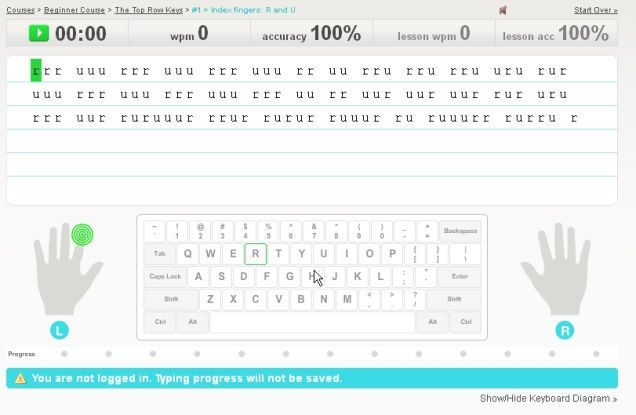 Typingweb Offers Free Typing Lessons Typing Lessons Keyboarding Keyboard Lessons