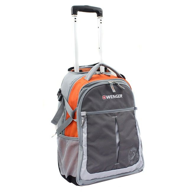 Wenger Swiss Gear Orange 20-inch Rolling Carry-On Backpack - Free ...