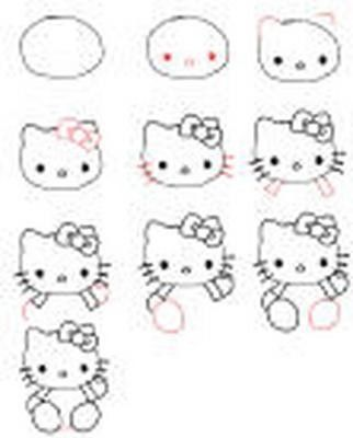 How to draw hello kitty how to draw pinterest les - Dessiner hello kitty ...