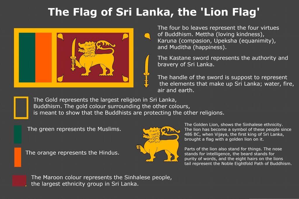 Meaning Of Sri Lanka S Flag R Vexillology Sri Lanka Flag Flag Sri Lanka