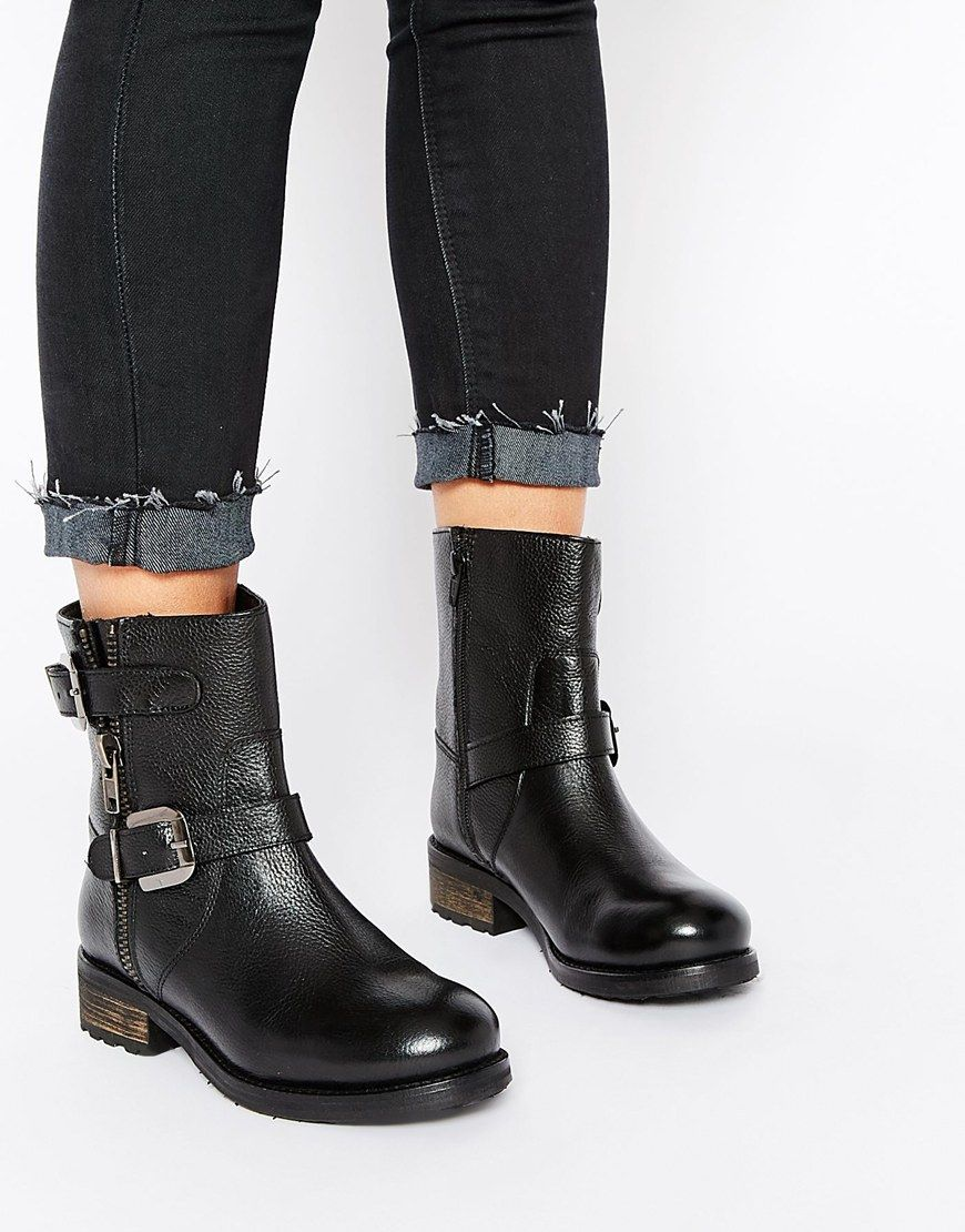 Rule London Verne Leather Chunky Biker Boot