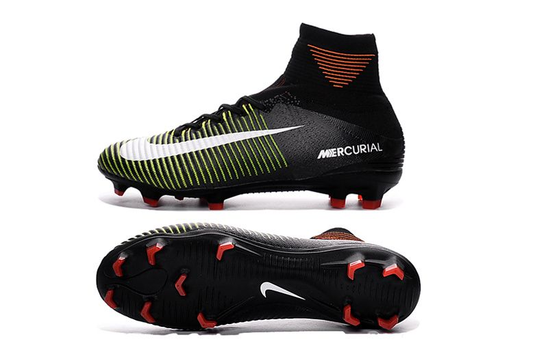 buy online d69ef 35754 2016-17 Nike Mercurial Superfly V FG Black Electric Green White