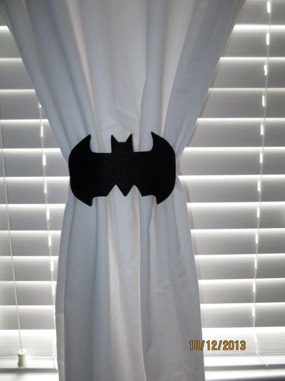 Bat Curtain Tie Backs Set Of 2 Batman Chambre Salle De Jeux Et
