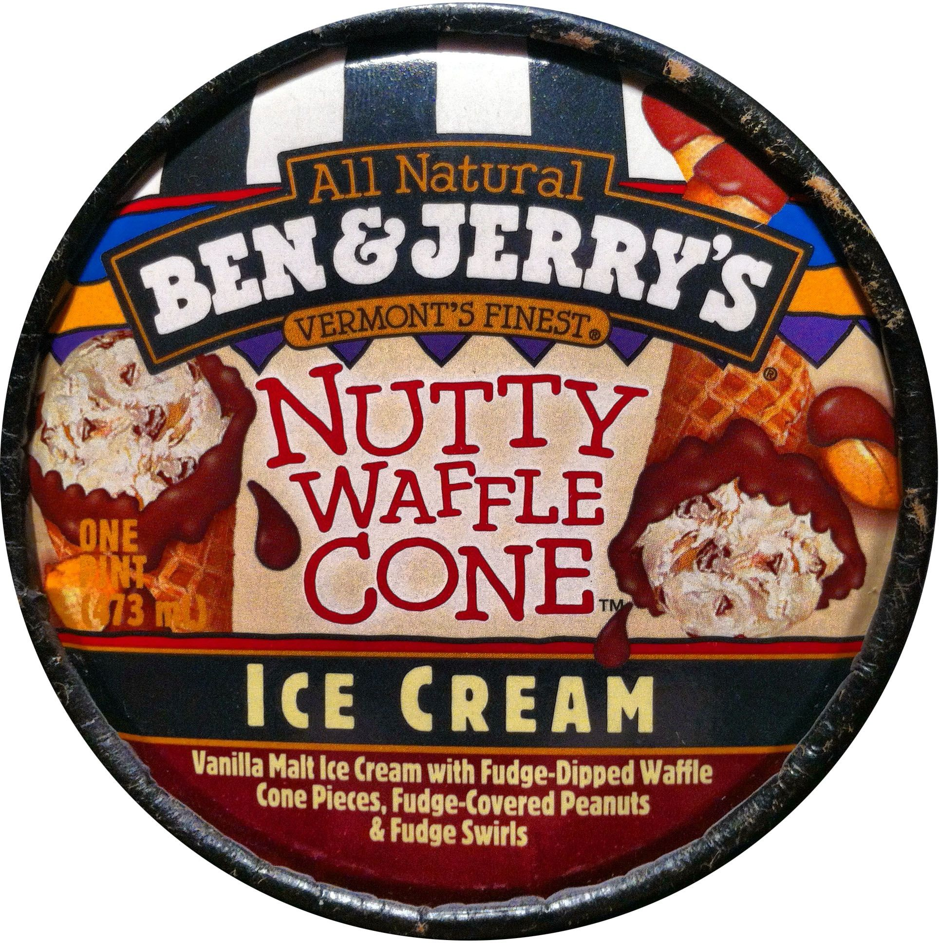 Ben Jerry S Nutty Waffle Cone New For 2000 With Images Ben