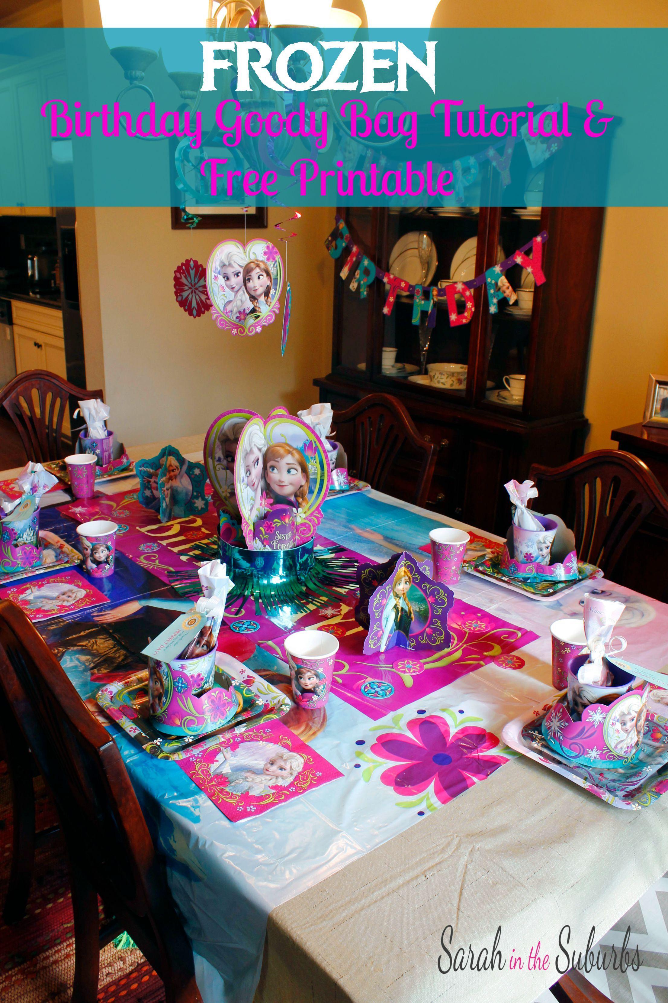 FROZEN-Birthday-Table-Setting-Tutorial | Party Planning | Pinterest ...