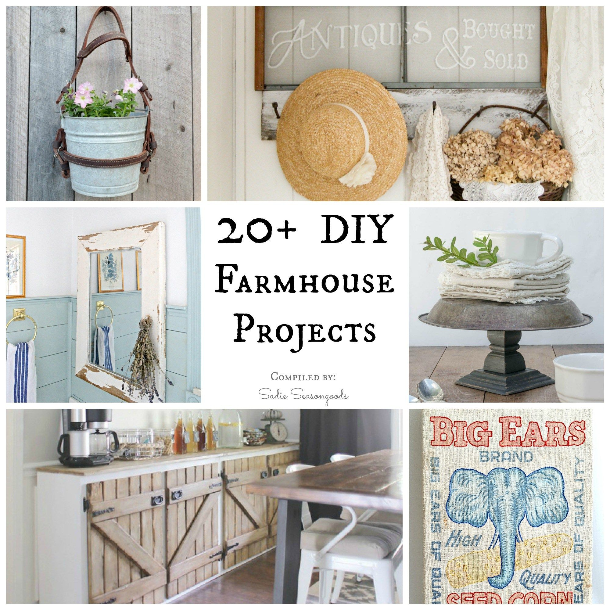 Repurposed Home Decor: Repurposed And Upcycled Farmhouse Style DIY Projects