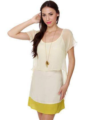 For the love of lemony cream dress $46.00