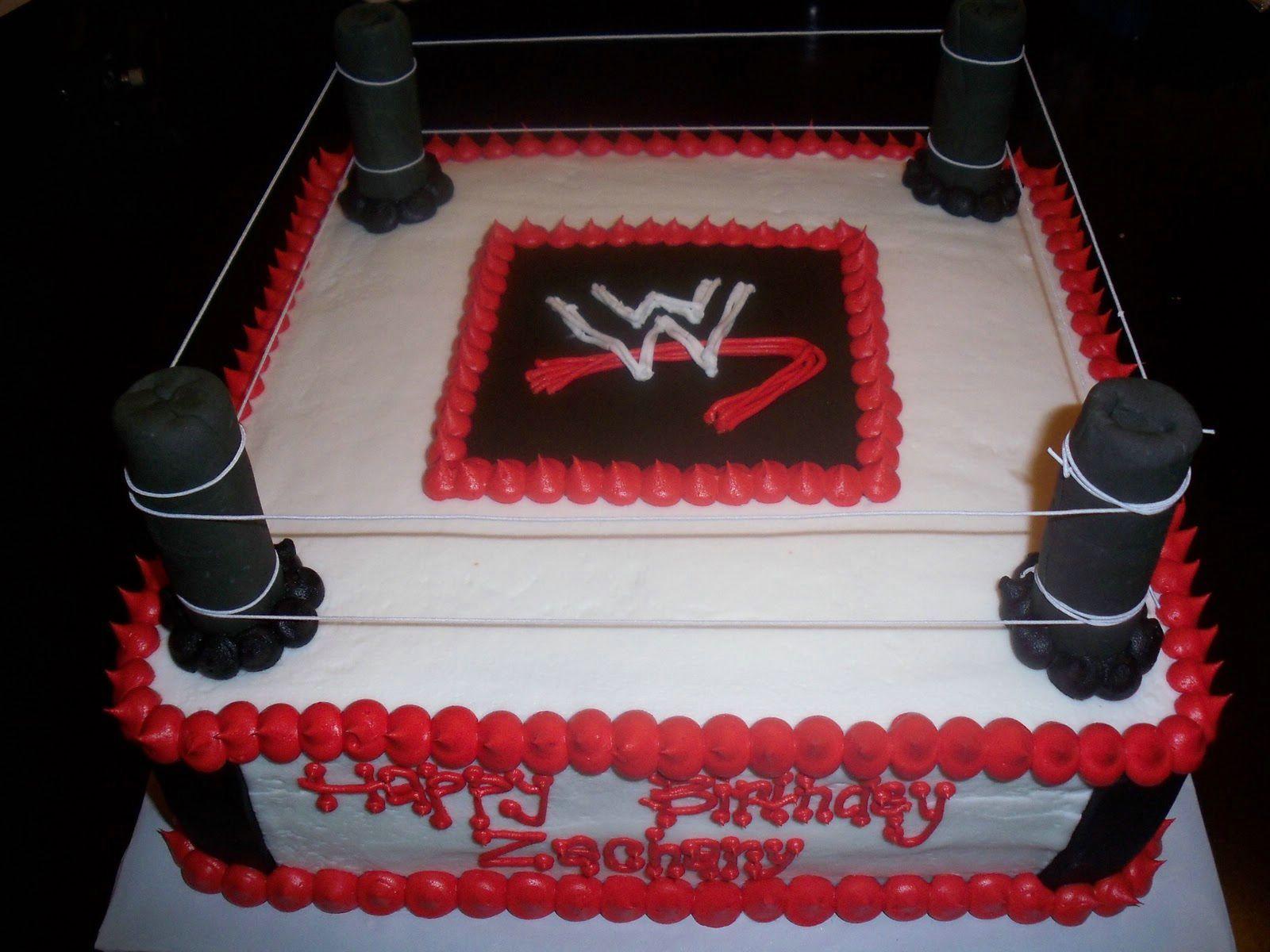 Men happy birthday cakes wwf ring wwe birthday cakes