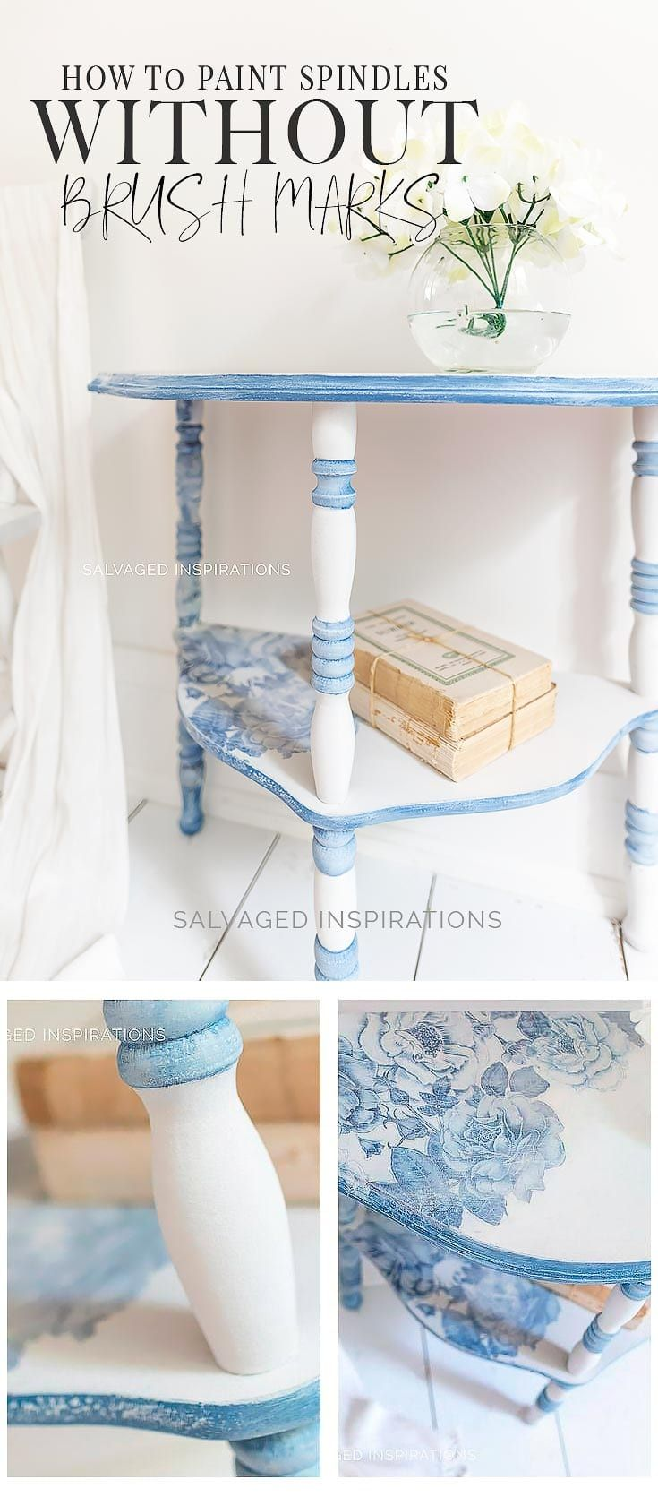 How to paint spindles without brush marks furniture diy