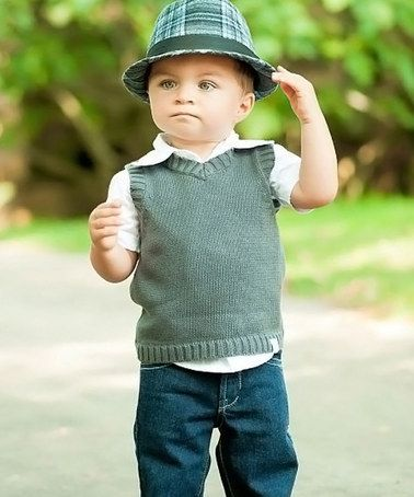 RuggedButts Gray Sweater Vest - Infant | Infant, Infant toddler ...