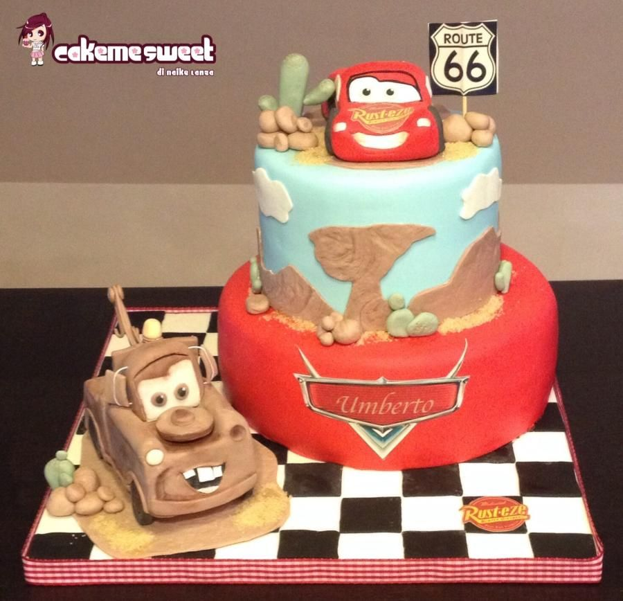 Cars disney birthday cake