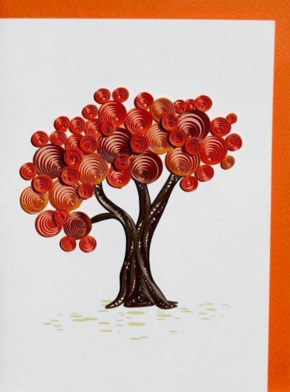 Comment Faire Des Arbres En Papier dedans 15 modèles d'arbres à bricoler en paperolle! le quilling