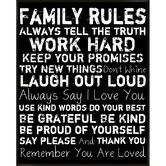 Found it at Wayfair - Family Rules I Framed Textual Art. i want it in the living room