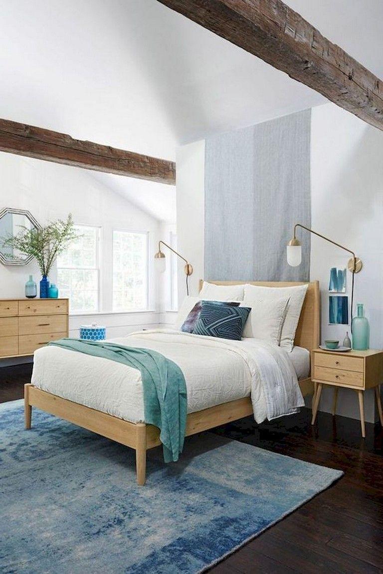 48 Comfy Modern Coastal Master Bedroom Decorating Ideas Mid Century Bedroom Design Modern Master Bedroom Design Master Bedrooms Decor