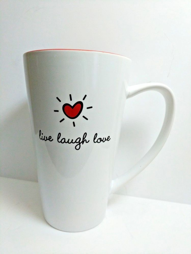 fc2743dcbf7 Details about 10 Strawberry Street Live Laugh Love Tall Coffee Latte ...