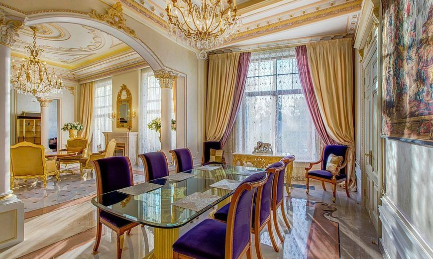 Gold And Purple Is The Perfect Color Duo For Regal Victorian Dining Room 15 Majestic Rooms That Radiate Opulence