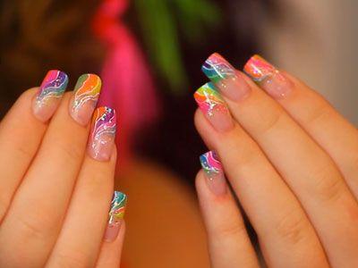 Bright Colors Acrylic Nail Designs Nails Nail Designs