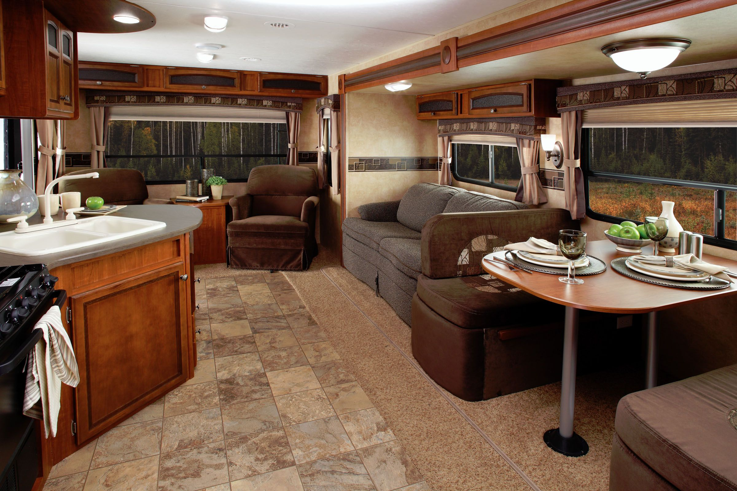 Modern rv interiors - Photos Of Rvs The Jayco Journal Cleaning Your Rv The Interior