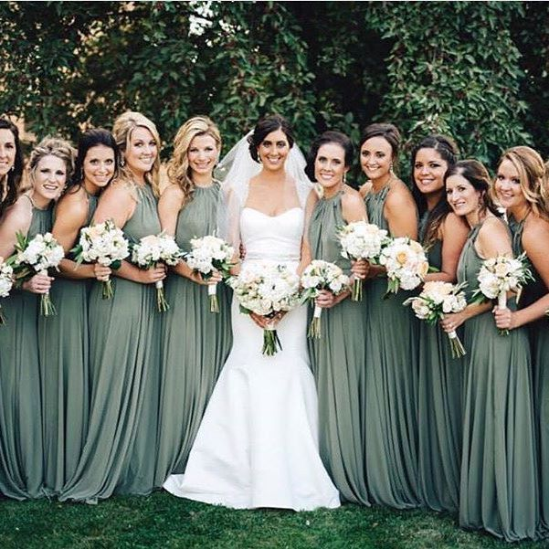 Image Result For Bridesmaid Dresses Earthy Green