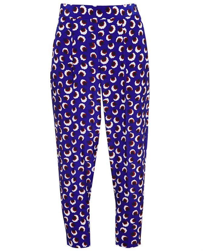 STELLA MCCARTNEY Blossom Print Silk Trousers