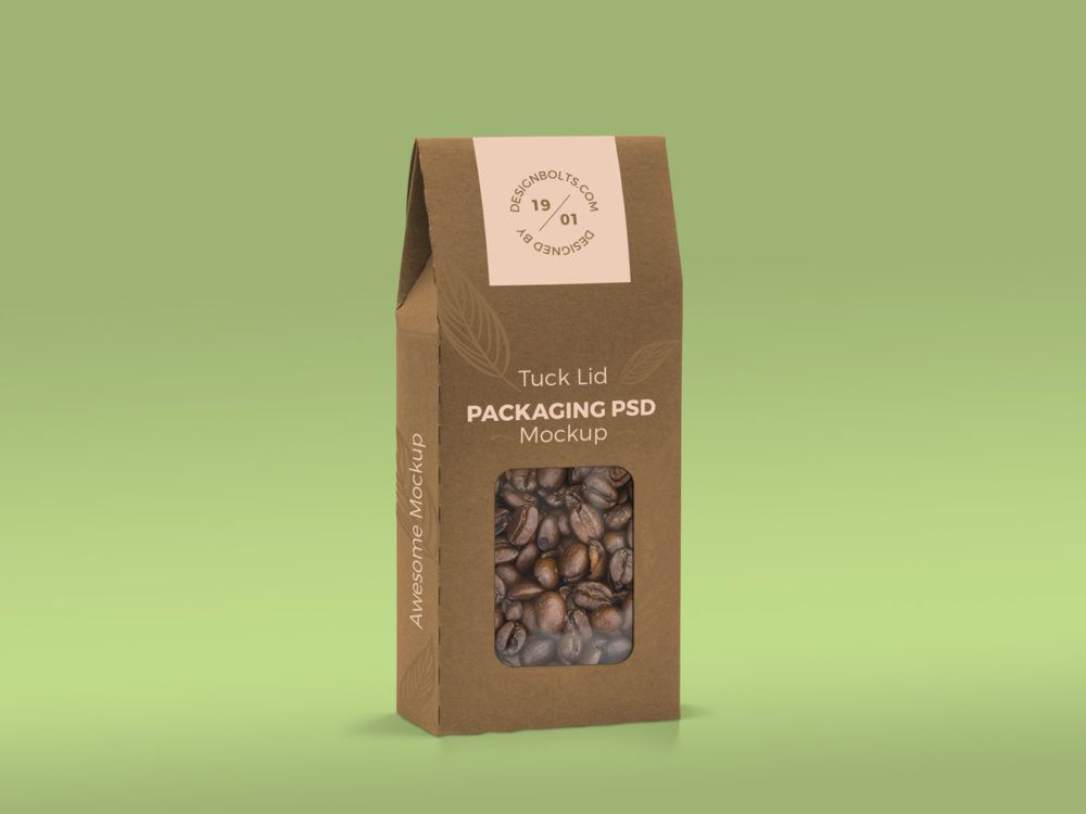 Download Tuck Lid Window Box Packaging Mockup Free Mockup Packaging Mockup Box Packaging Free Packaging Mockup