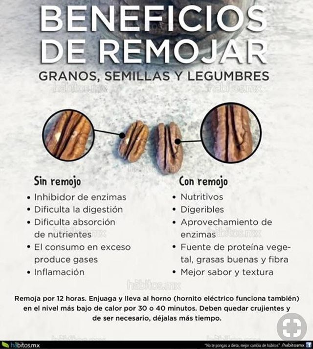 Beneficios De Remojar Granos Semillas Y Legumbres Healthy Nutrition Health And Nutrition Nutrition