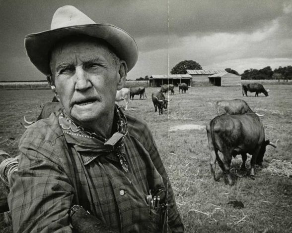 E.H. Marks, founder of LH7 Ranch, pictured in 1966, was a second-generation cowboy, a flamboyant storyteller and the kind of Texan that New Yorkers picture when they think about Texas. Photo: Ted Rozumalski / Houston Chronicle