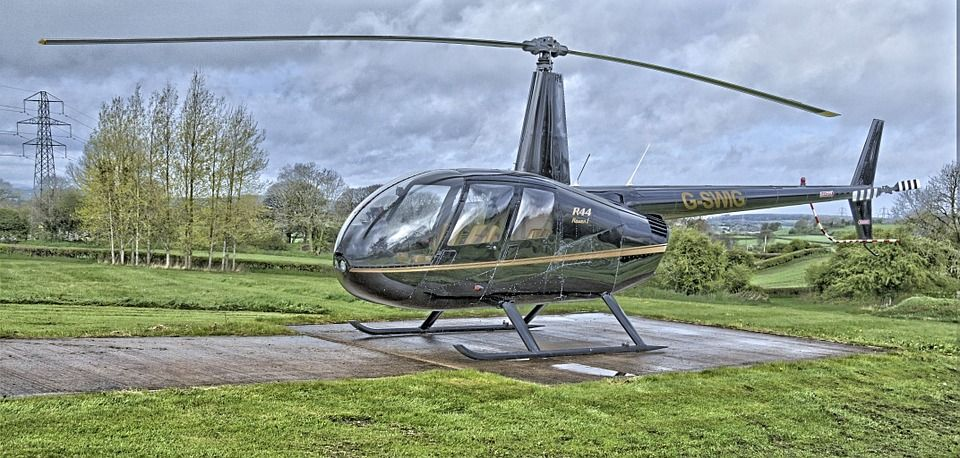 Helicopter, Aviation, Robinson, R44, Chopper, Hdr