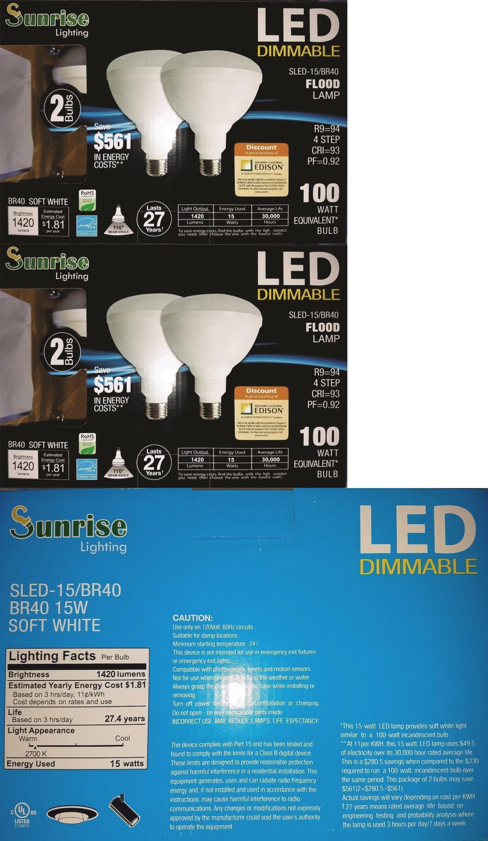 Br40 Led Bulb 4 Pack 2700k Warm White Indoor Outdoor Flood Light Bulb 100 Watt Outdoor Flood Lights Bulb Flood Lights