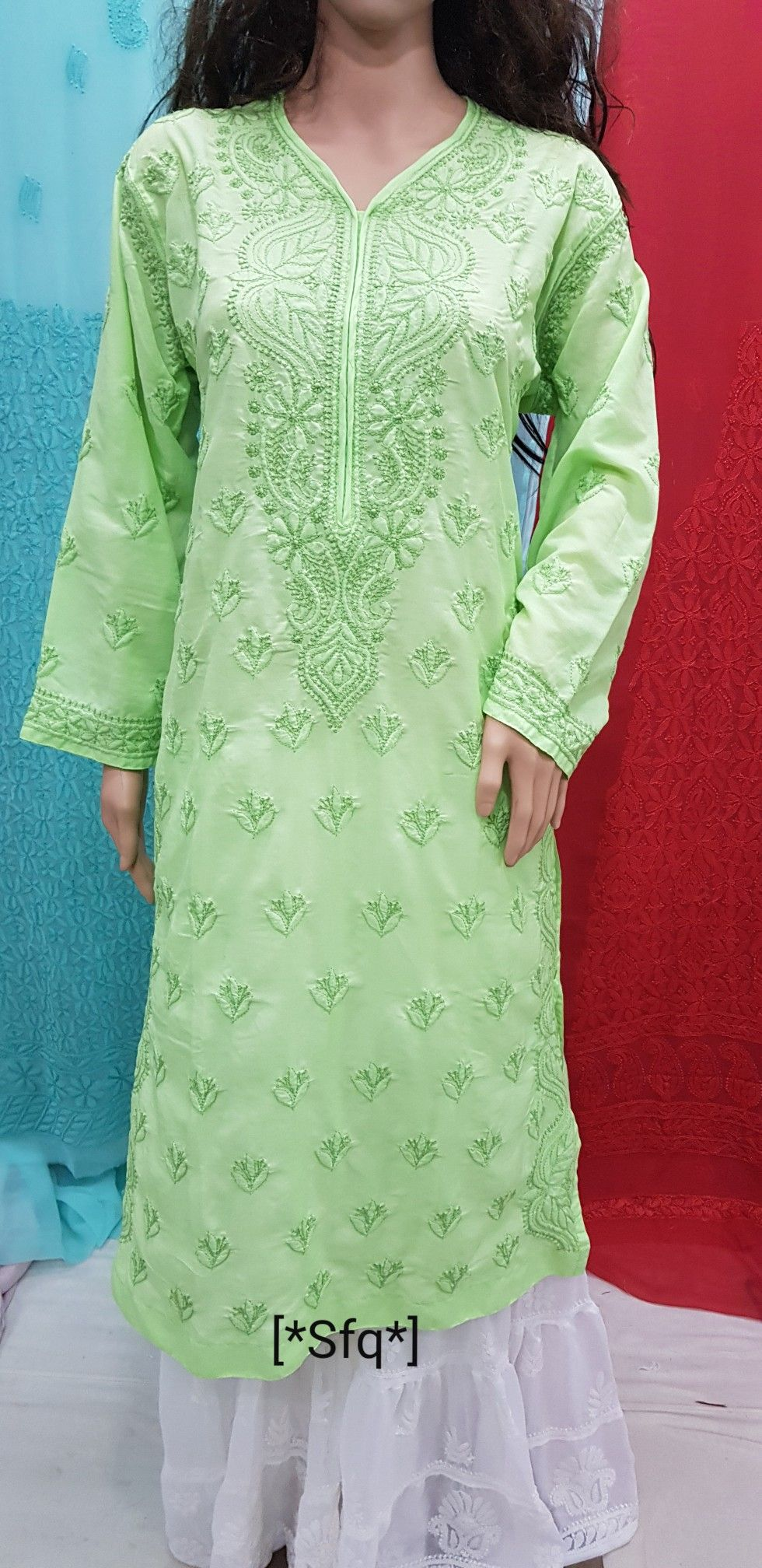 Muslim Fabric Kurtis [*Sfq*]. Chikankari Lucknowi Work #shararadesigns
