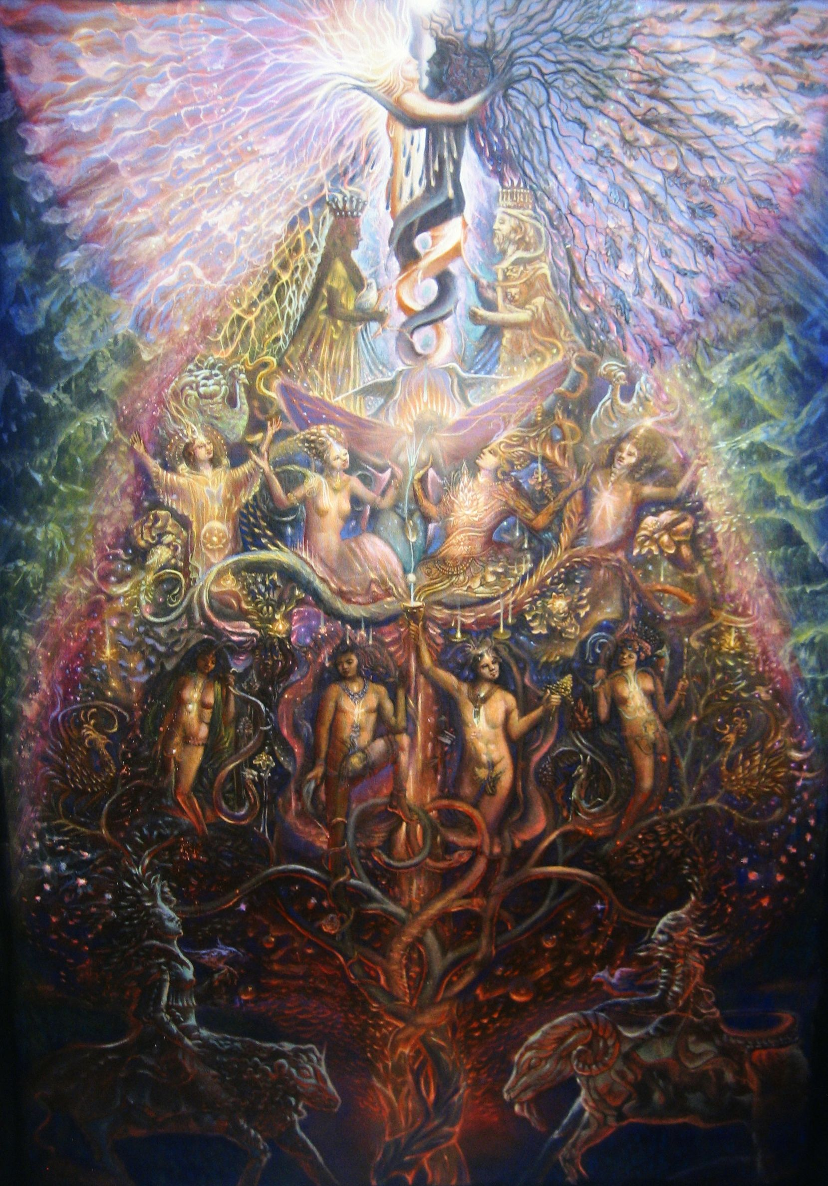 Union of the Opposites' by Kuba Ambrose - oil and egg tempera on ...