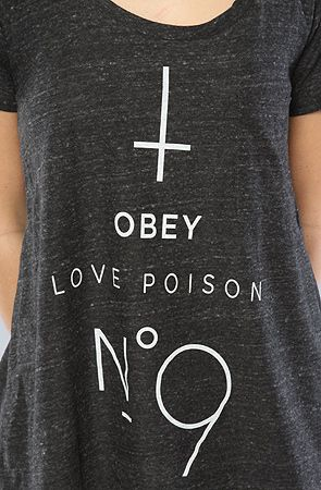 Obey The No 9 Oversized TriBlend Tee