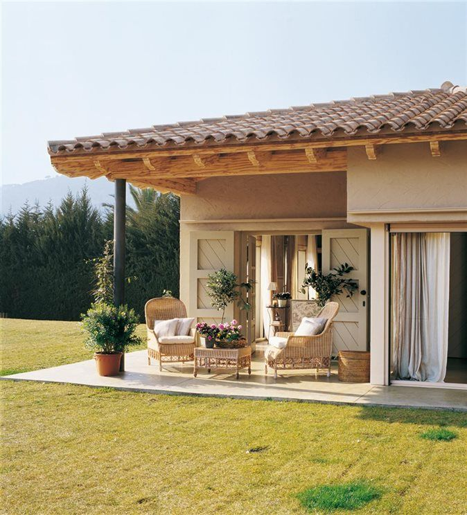 Exterior casa porches pinterest casa mexicana for Disenos de porches de casas