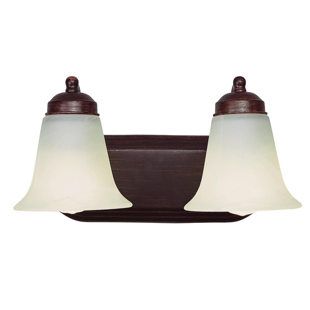 Photo of Bel Air Lighting Morgan 2-Light Rubbed Oil Bronze CFL Bath Light PL-3502 ROB – The Home Depot
