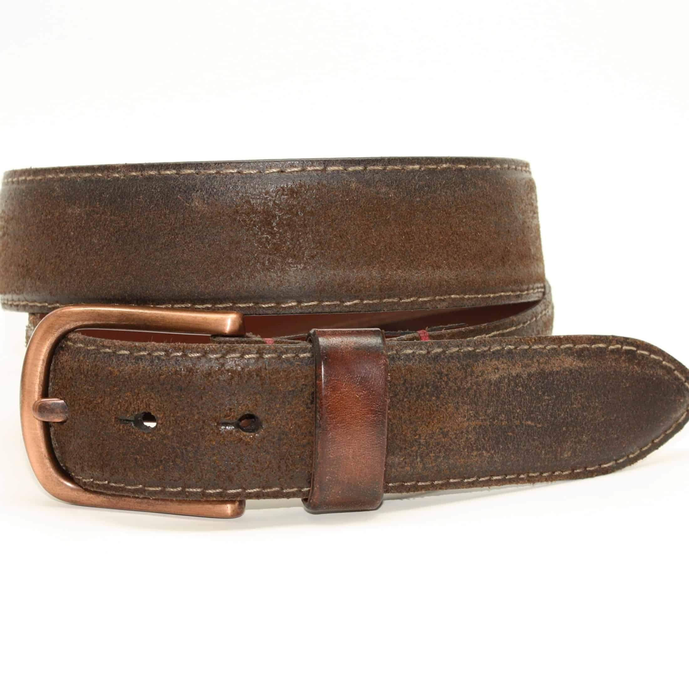 Torino' Sanded Harness Leather Belt | Belt, Leather company