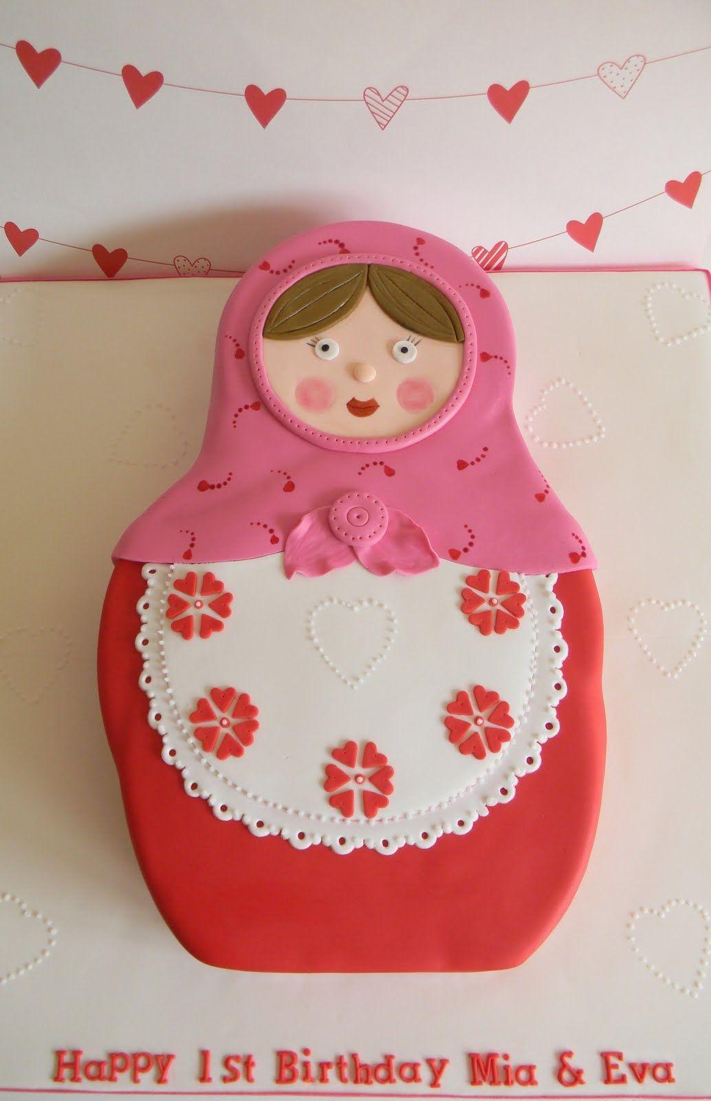 Just Call Me Martha Babushka 1st Birthday Cake