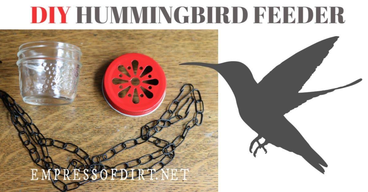 Make a Hummingbird Feeder with Mason Jars Empress of