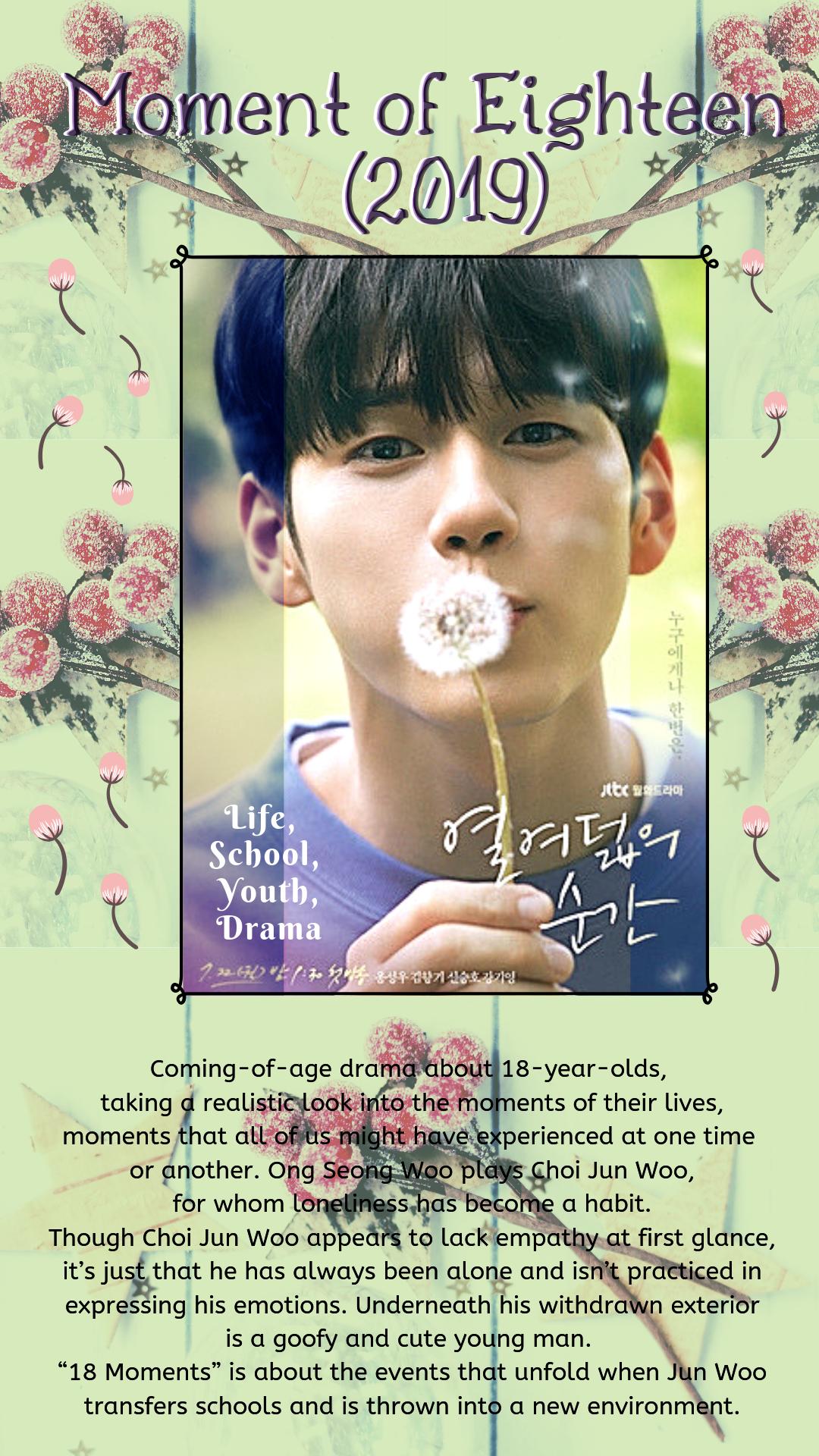 Drama Moment of Eighteen Country South Korea Episodes