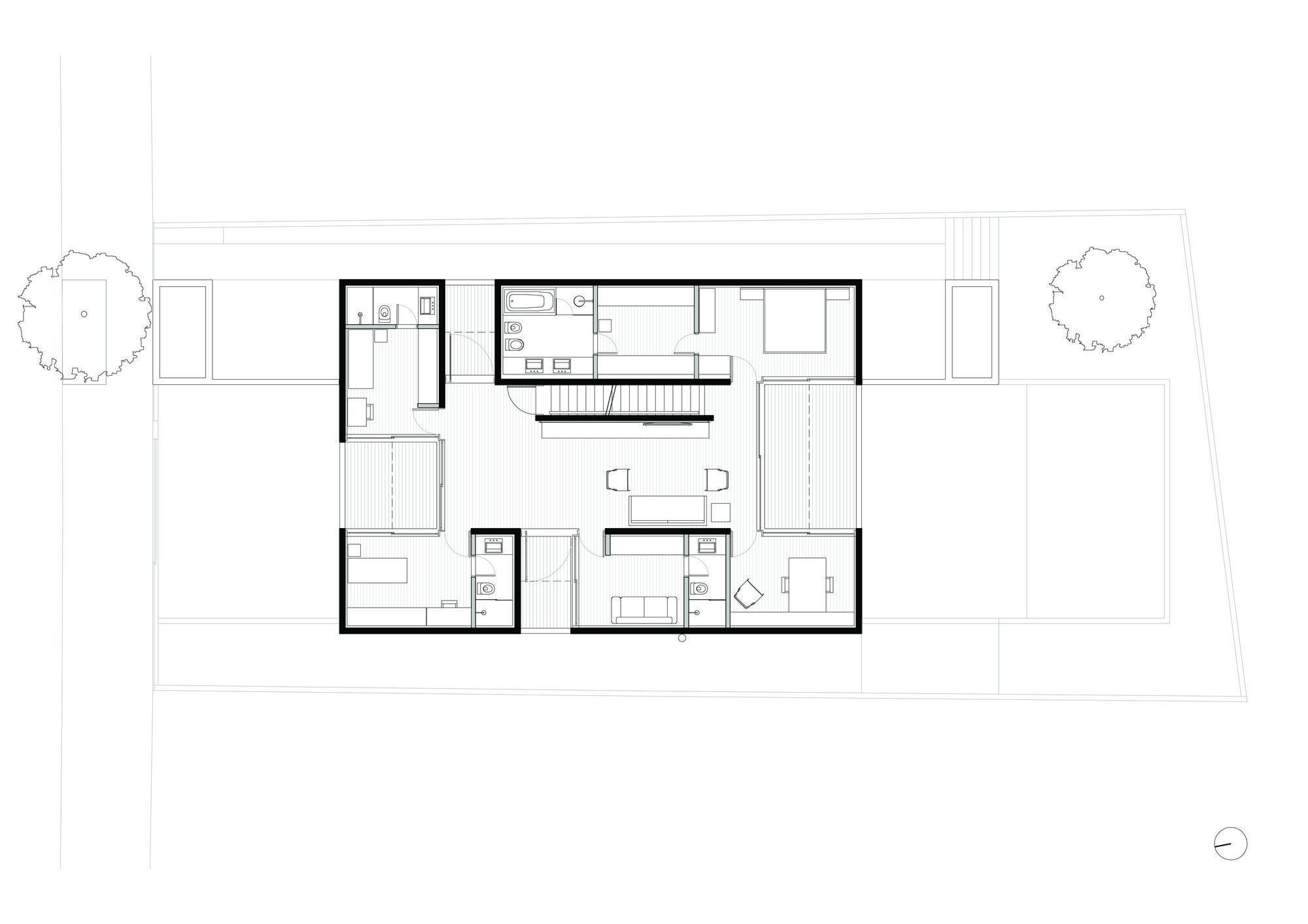 Galeria De Casa Boacava Una Arquitetos 15 Custom Home Plans Arch House House Plans