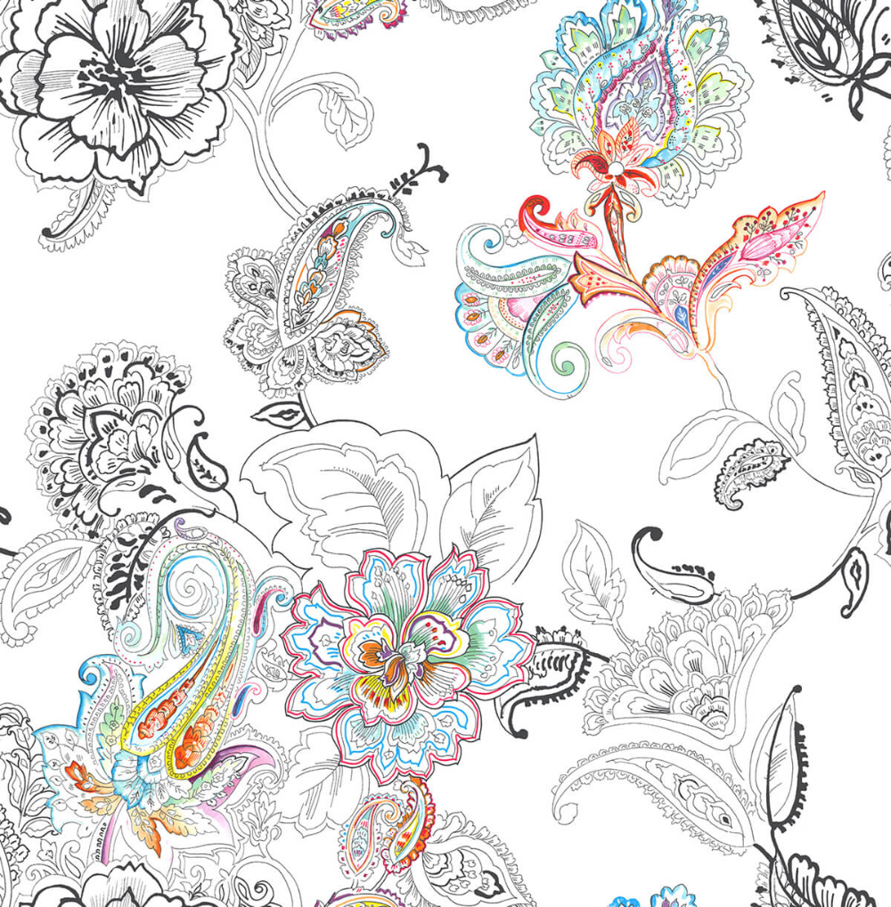 Colorful Paisley Peel And Stick Wallpaper In Multi By Nextwall In 2021 Peel And Stick Wallpaper Paisley Wallpaper Wallpaper Roll