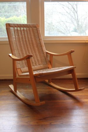 Portland: Danish Modern Hans Wegner Style Rocking Chair $300 - http://furnishlyst.com/listings/1152560