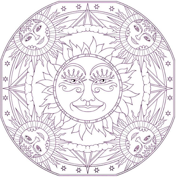celestial coloring page