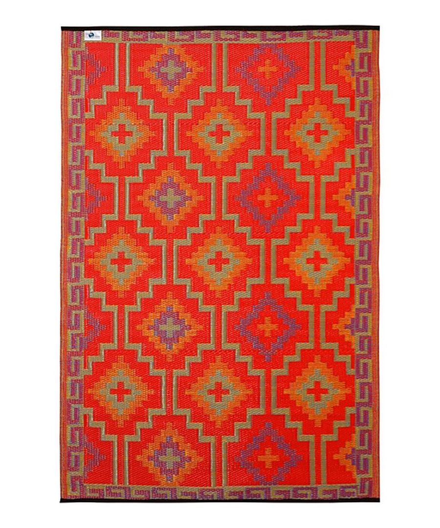 Outdoor Teppich Lhasa Look At This Violet Orange Lhasa Reversible Indoor Outdoor Rug
