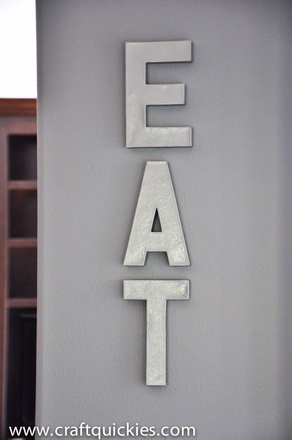 Anthro Knockoff Metal Letters Eat For