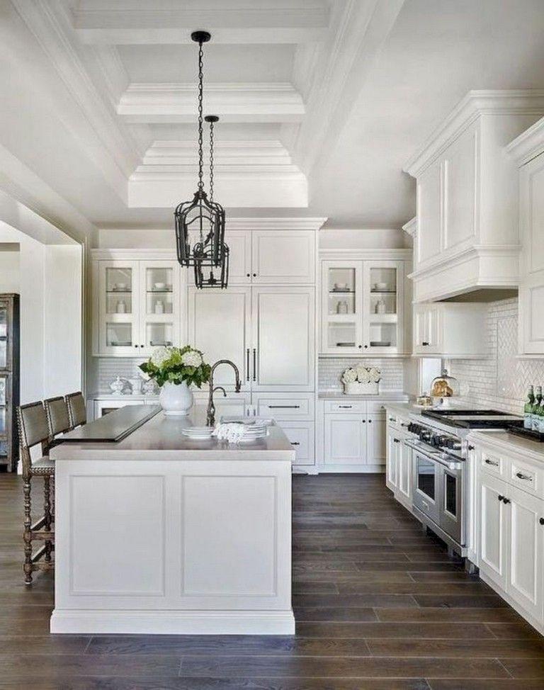 41+ Comfy White Kitchen Dark Floors Ideas   White ...