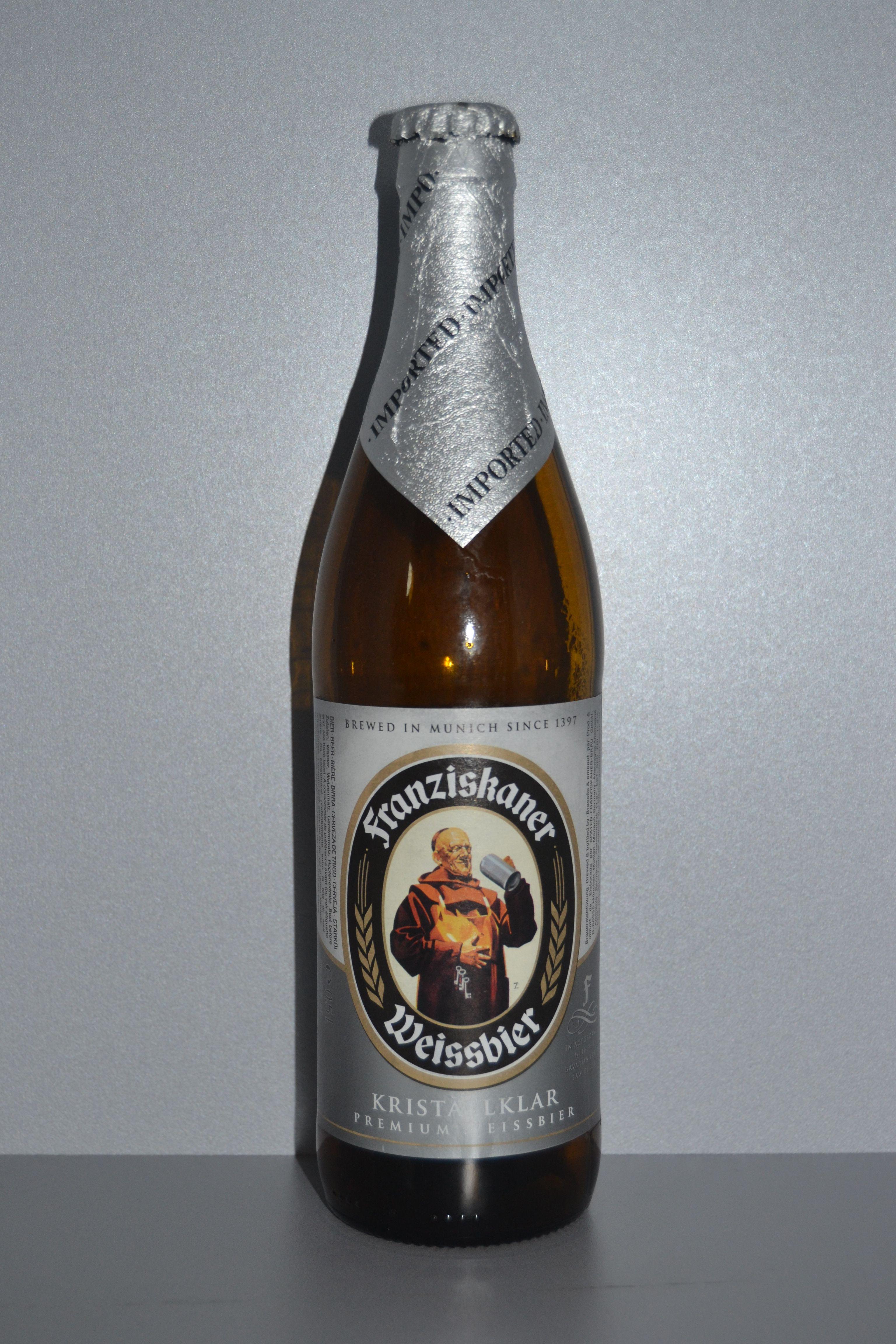 Good Wheat Beer Franziskaner Weissbier Kristallklar Cerveza