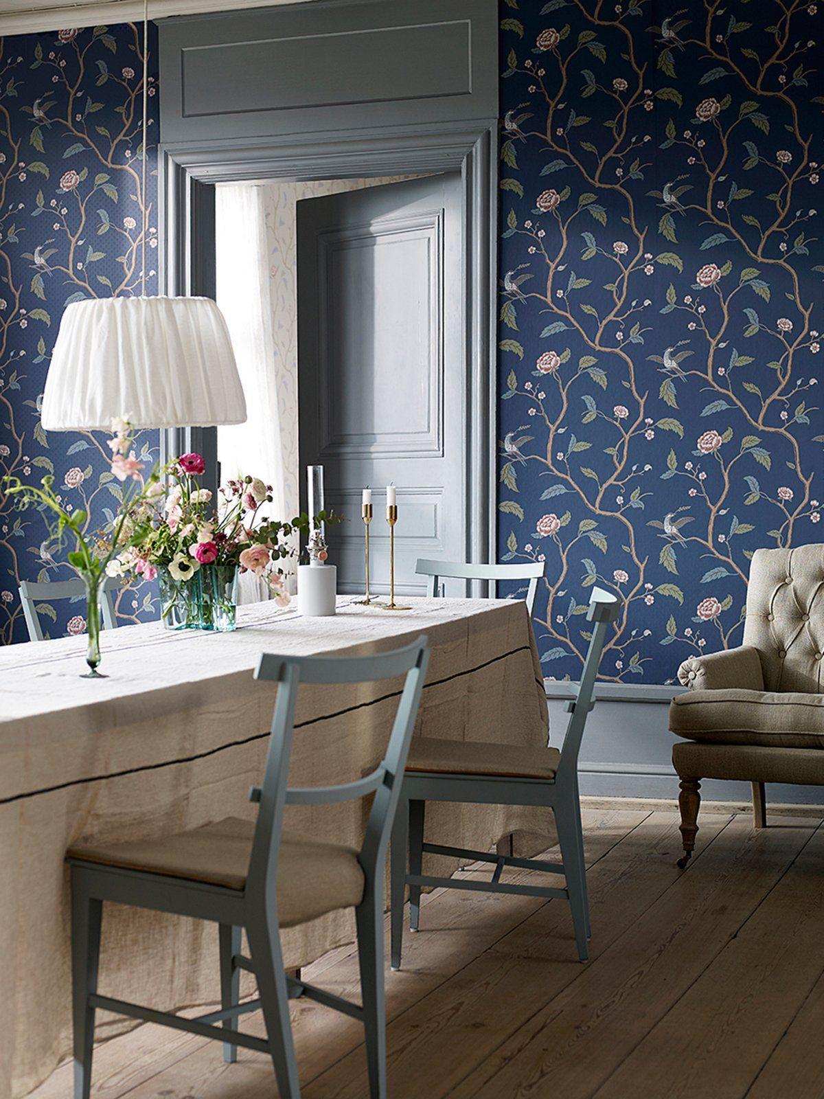 Beautiful Chinoiserie   Eine Tolle Tapete Mit Historischem Muster Gibt Dem Raum Neues  Flair Nice Ideas