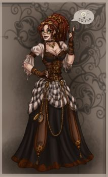 steampunk gal by Harpyqueen